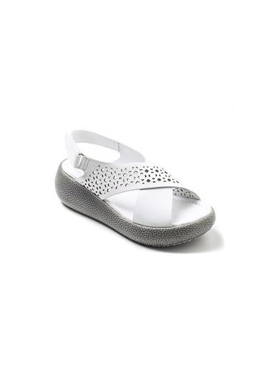 John May Spor Sandalet Beyaz